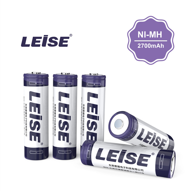 LEISE AA 2700 MAh NI-MH Rechargeable Battery  With Battery Case 2A 1.2v 2700mah  Nimh Battery Free Shipping For Toys