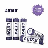 LEISE AA 2700 mAh batería recargable NI-MH con batería 2A 1,2 v 2700mah batería Nimh envío gratis para juguetes