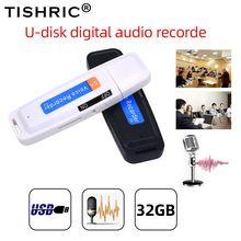 TISHRIC u-диск мини диктофон ручка цифровой диктофон аудио рекордер флеш-диск USB 2,0 звука для 1-32 ГБ Micro SD TF карты