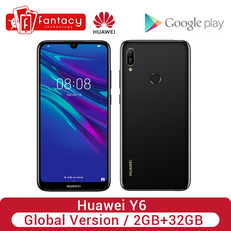 Original Global Version HUAWEI Y6 2GB 32GB 2019 Smartphone 6.09