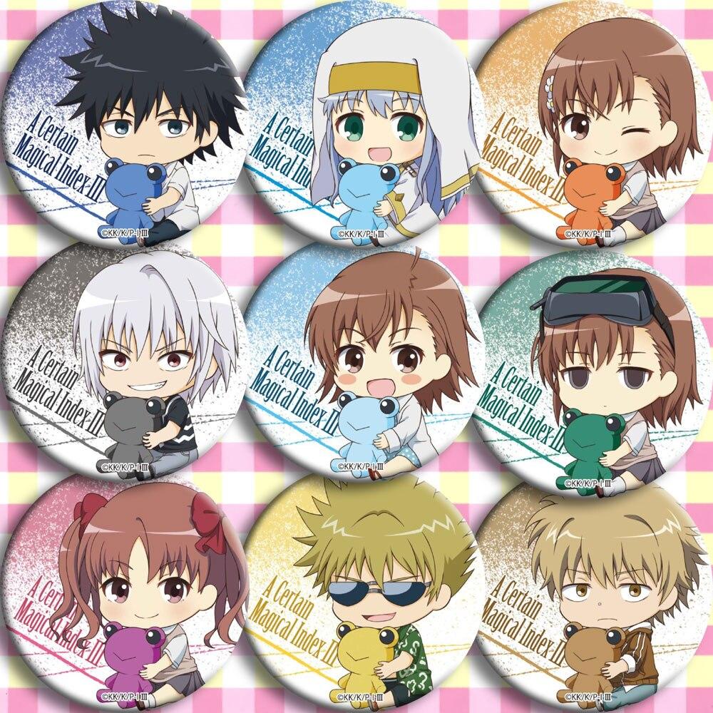 Brdwn Toaru Majutsu No Index Misaka Mikoto Shirai Kuroko Kamijou Touma Accelerator Kongou Mitsuko Wannai Kinuho Cosplay Badge #A