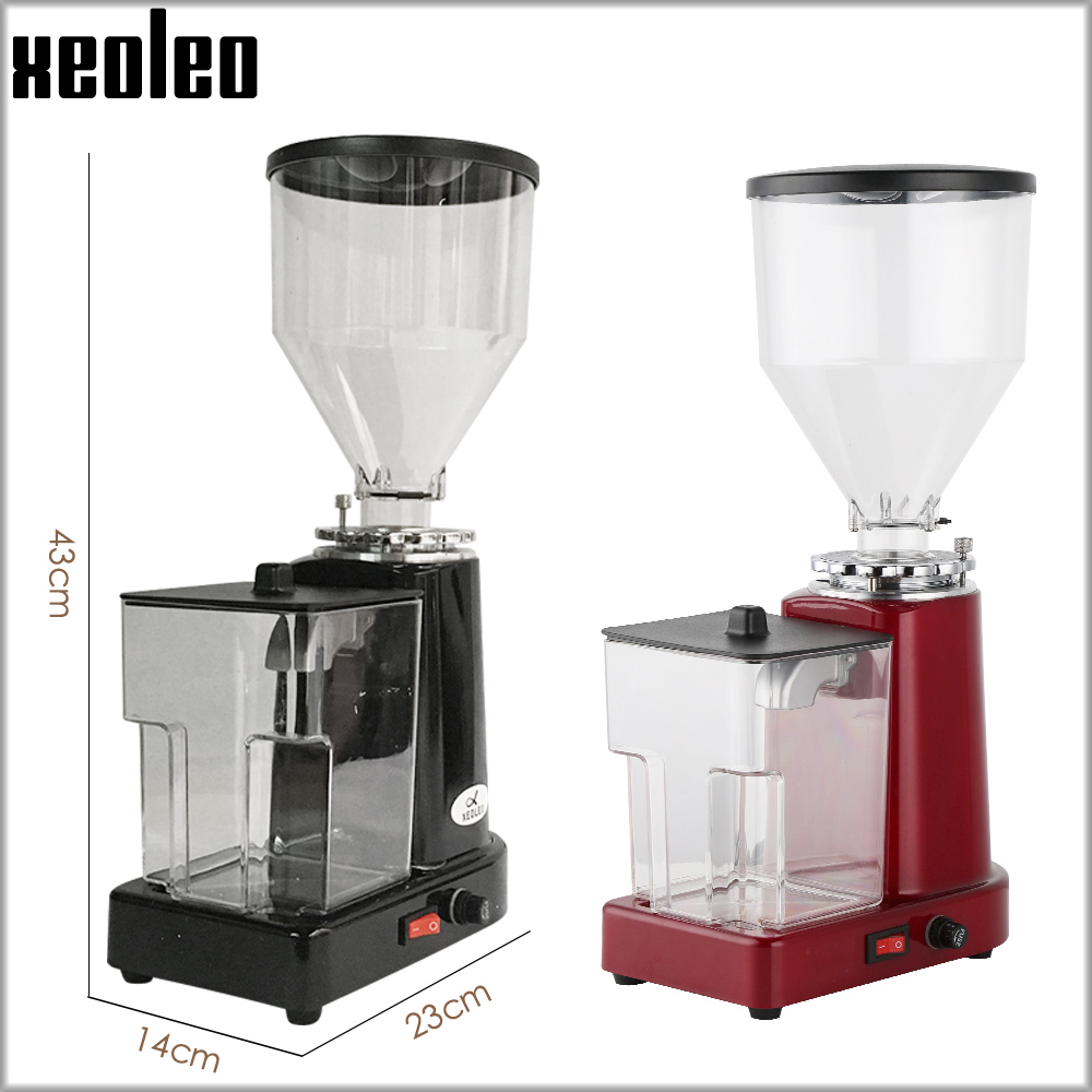 Image 2 - XEOLEO Electric Coffee grinder Turkish coffee grinder Coffee Milling machine Flat Burr grinder Espresso maker Miller Black/Redelectric coffee grindercoffee grinderburr grinder -
