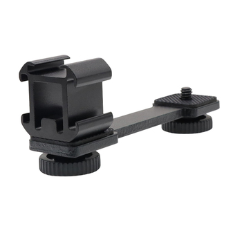 Triple Hot Shoe Mount Adapter Microphone Extension Bar for Zhiyun Smooth 4 DJI Osmo Pocket Gimbal Accessories triple hot shoe mount adapter microphone extension bar for zhiyun smooth 4 dji osmo pocket gimbal accessories