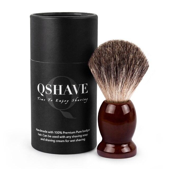 Помазок для бритья Qshave QM3201 деревянный с натуральной щетиной 1