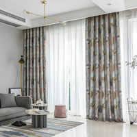 BIGMUM современные затемненные шторы с классическим принтом для гостиной, спальни, кухни, оконные шторы Rideaux Pour Le Salon