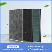 Air purifier filter kit FZ 380HFS FZ C150DFS FZ C150VFS for Sharp air purifier part KC W380SW W KC Z380SW|Air Purifier Parts| |  -