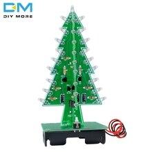 3D Рождественская елка 3/7 цвет свет вспышка светодиодный цепи Рождественские Деревья светодиодный модуль платы блока программного управления DC 4,5 V-5 V Электронный комплект «сделай сам»