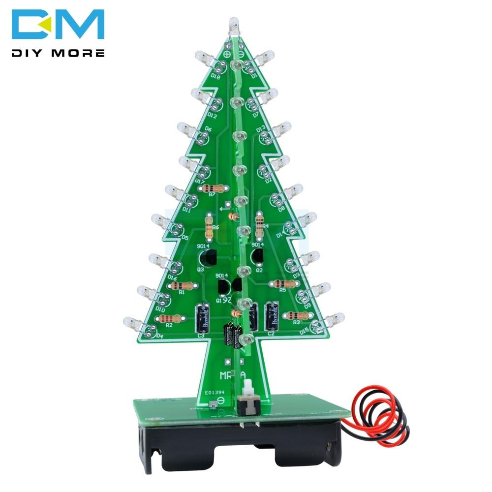 3D Xmas Tree 3/7 Color Light Flash LED Circuit Christmas Trees LED PCB Board Module DC 4.5V-5V Diy Electronic Kit