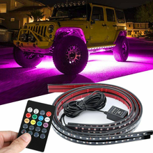 Flexible RGB 48 LED Strip Under Car Tube Underglow Underbody System 4Pcs Neon Lights Kit For Hot Sale