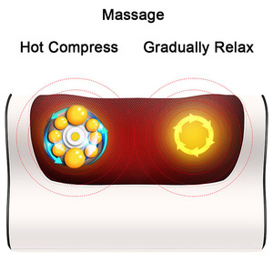 Image 4 - Newest Shiatsu Massage Pillow cervic Massager for neck back relaxation Cloak electric massager body Infrared Heating Care