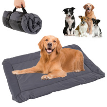 Waterproof Pet Mat For Dog Cat Solid Color Outdoor Dog Mattress Beds Warm Sleeping Cushion Kennel For Small Medium Large Dogs