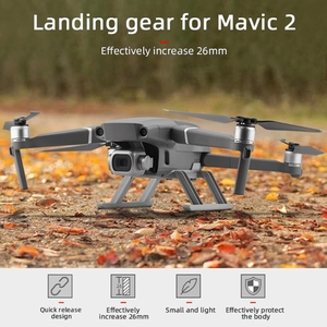 Image 3 - Quick Release Landing Gear Kits for DJI Mavic 2 Pro/Zoom Drone Height Extender Long Leg Foot Protector Stand Gimbal Guard