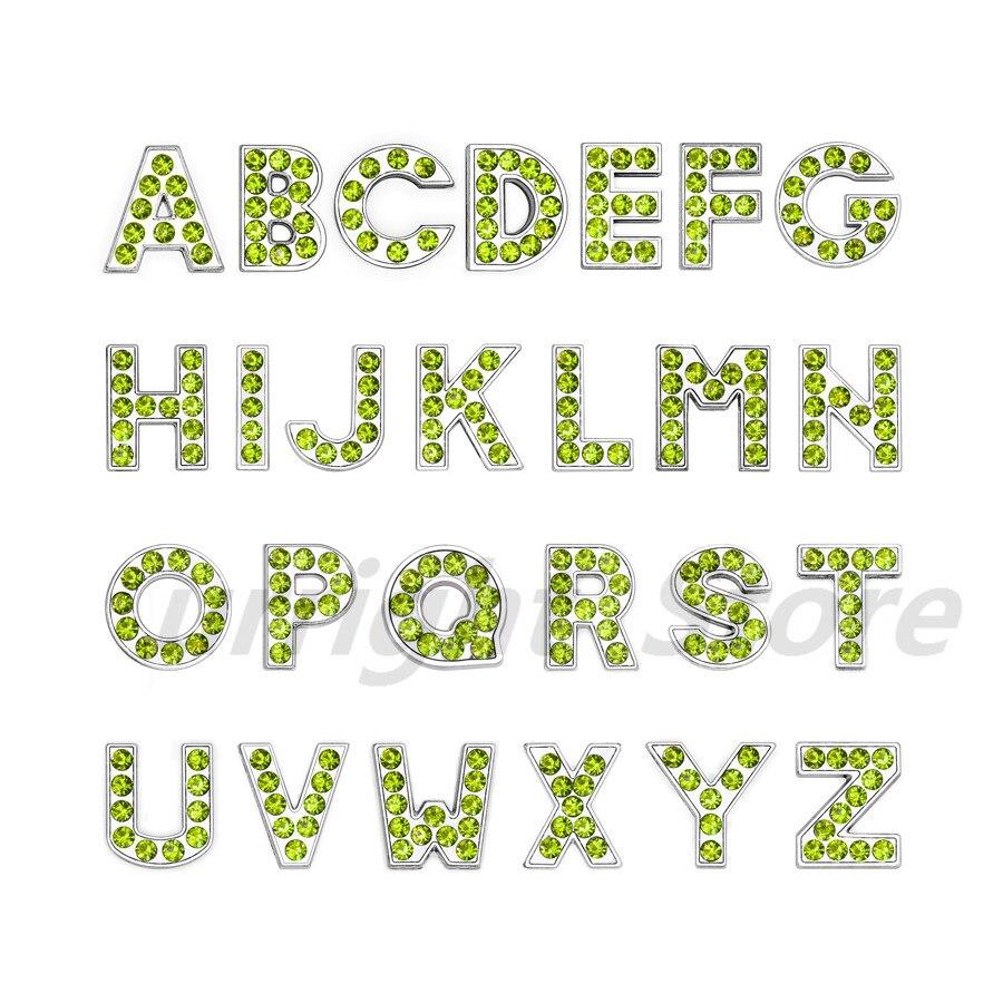 8mm-铬色橄榄色钻-字母穿戴_副本