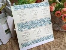 цена на 60PCS/Lot popular Vintage Flower pattern Thank you Sealing sticker DIY Gifts posted Decoration label Multifunction
