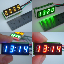 0.30 นิ้วดิจิตอล LED จอแสดงผลเมตรปรับได้รถจักรยานยนต์จักรยาน E BIKE นาฬิกา DC 12V 24V V DIY Time Monitor
