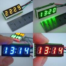 """Relógio digital com visor led 0.30 """", relógio para bicicleta e carro com display led ajustável, dc 12v 24 monitor de tempo diy v"""