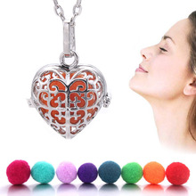 Heart Aromatherapy Diffuser Necklace Pendant Jewelry Cage Diffuser Locket Pendants Perfume Essential Oil Jewelry For Women
