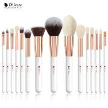 DUcare 15PCS Makeup brushes set Professional Natural goat hair brushes Foundation Powder Contour Eyeshadow make up brushes