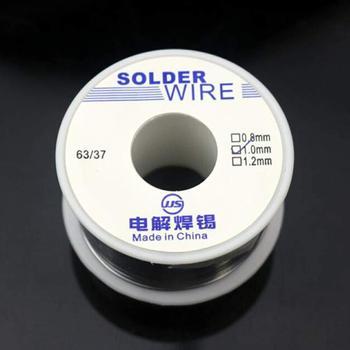DishyKooker 50g 0.8mm/1.0mm Tin Lead Solder Wire Rosin Core Soldering new tin lead rosin core solder wire 0 3mm 0 4mm 0 5mm 0 6mm 0 8mm 1 0mm 2
