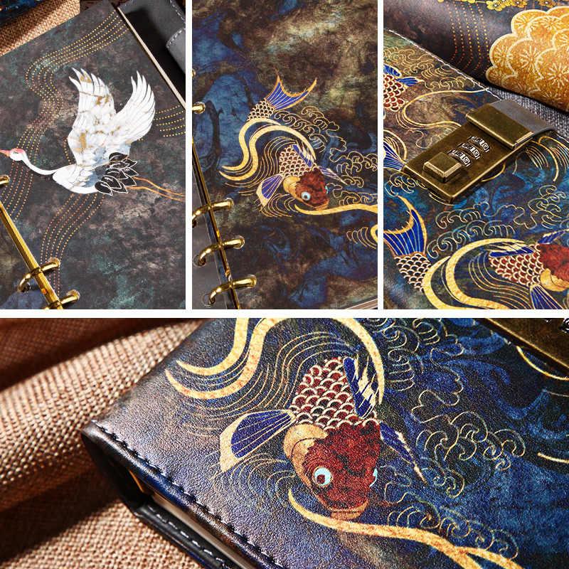 Kawaii a6 caderno e revistas sprial vintage nota livro de luxo agenda diy planejador organizador diário viagem bloco de notas com bloqueio presente