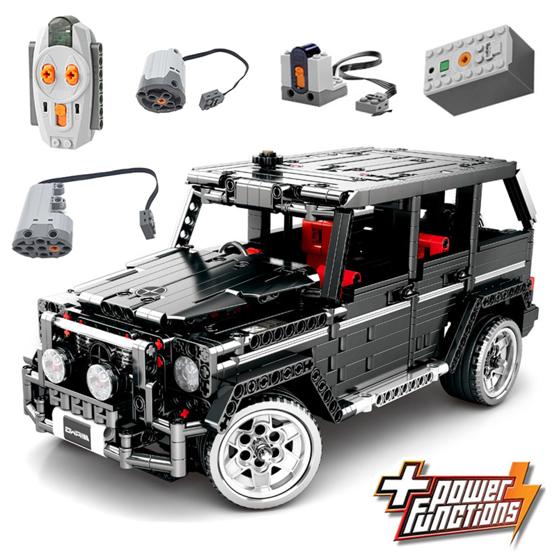 RC Motor Technic 20100 MOC 2425 SUV G500 AWD Wagon Car Sets Fit Legoing Building Blocks Electric Bricks Toys Gifts For Children-in Blocks from Toys & Hobbies