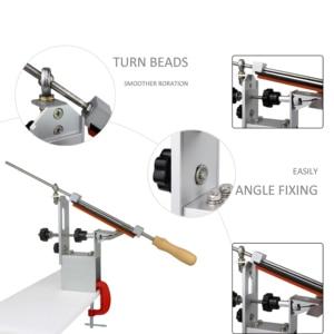 Image 5 - 5 generation professional pro Apex Edge kitchen knife sharpener system with 3pcs Whetstones+ Aluminum alloy+ G clip