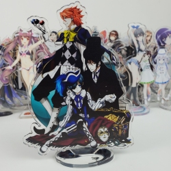 Japan Anime Kuroshitsuji Ciel Phantomhive Sebastian Michaelis Cosplay Double Side Acrylic Stand Figure Model Plate Desk Decor