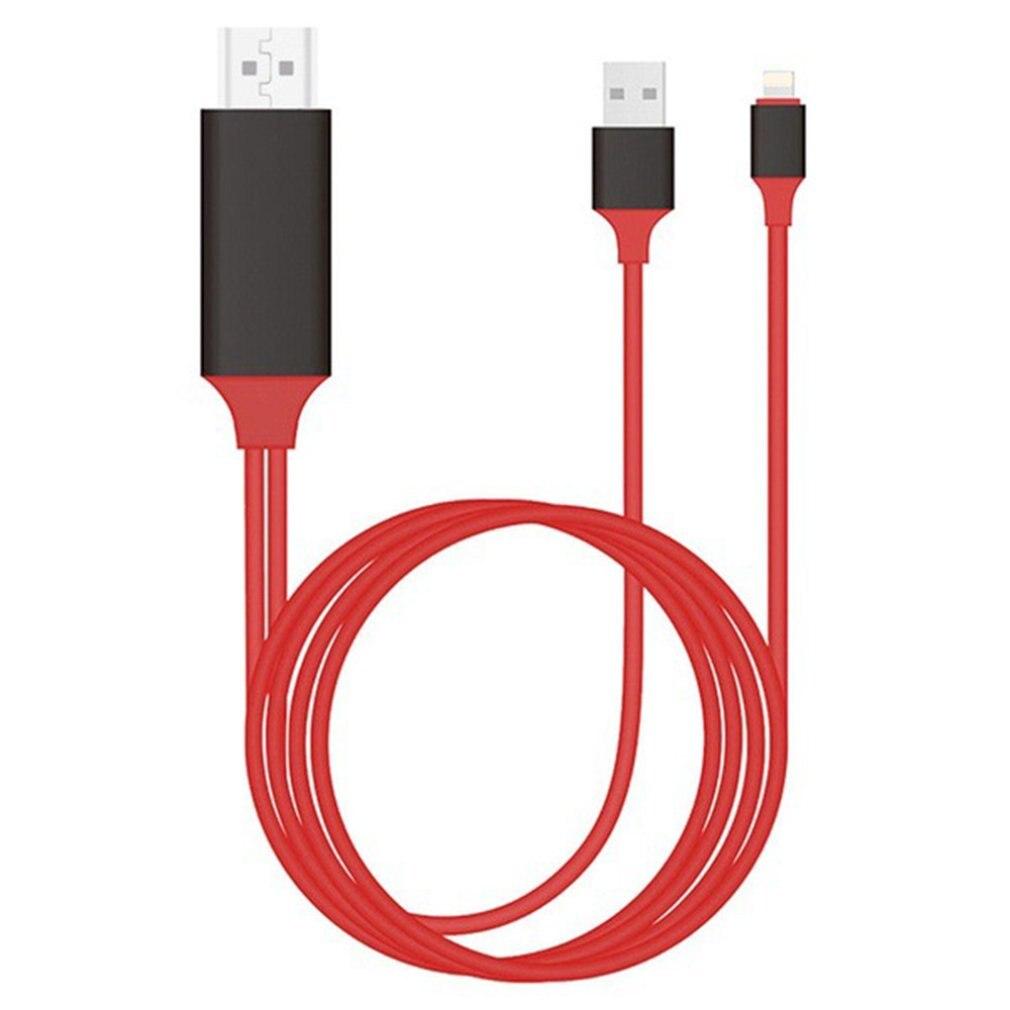 2 м 8 контактный HDMI HDTV AV Кабель адаптер для Lightning для IPhone для IPad IOS система мобильный телефон TV Hd кабель|Кабели HDMI|   | АлиЭкспресс