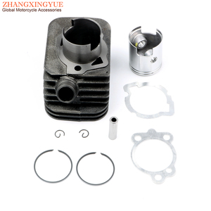 43mm 65cc Big Bore Cylinder Kit for Piaggio Ciao Boss 50 Boxer Grillo Si Bravo Ceao 50cc 10mm 2-stroke engine parts(China)