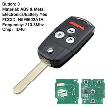 N5f0602a1a 313.8mhz id46 chip para 2007 2008 2009 2010 2011 2012 2013 acura mdx 4 botão entrada do carro inteligente keyless remoto chave fob