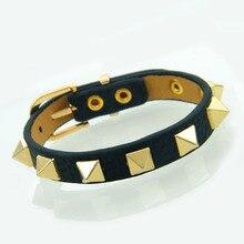 Cuff Bracelet Korea Luxury Brand Stainless-Steel Single-Circle Women Popular Rivets Punk-Style