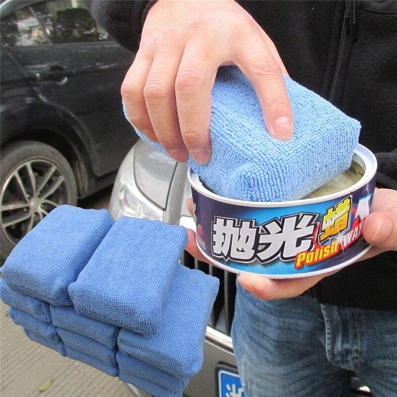 cera do carro pad esponja de polimento polido bloco de limpeza 03
