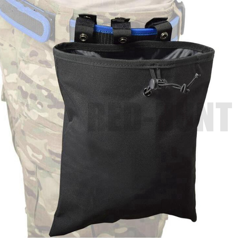 MOLLE Dump Pouch Tactical Mag Recovery Pouch Drawstring Magazine Recycling Pouch Airsoft Hunting Gear