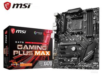 Nueva placa base de escritorio para MSI X470 de juego más MAX Amd ryzen 3rd cpu am4 de M.2 USB 3,1 ATX X470 placa base