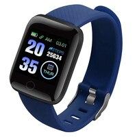 116 mais tela colorida relógio inteligente freqüência cardíaca pressão arterial à prova dnágua fitness rastreamento relógio nd998
