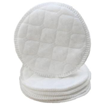 100 Pcs Washable Anti-overflow Pad Three-layer Anti-leakage Breast Pad Protection Feeding Nursing Pad For Postpartum Mother (Whi