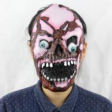 Halloween Realistic Latex Masks Scary Full Face Men Horror Mask Mascaras De Realista Adult Cosplay Carnival