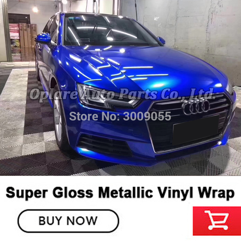 Gloss Glossy Green Vinyl Car Wrap Sticker Decal Bubble Free Air Release Film