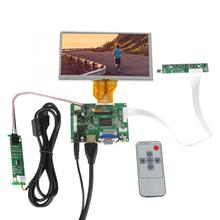 HDMI VGA 2AV ACC TTL LCD Display Controller Board +6.5inch AT065TN14 800x480 LCD With Touch Screen with US plug 4 3 lcd screen 2av vga driver board at043tn24 34 7m 40pin lcd screen