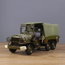 Manufacturer Creating PLA Transportation Truck Model Algam Craft Ornaments Forces Gift Home Decoration(China)