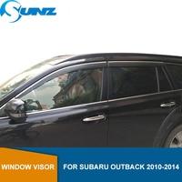 Side Venster Deflectors Regen Guard Voor Subaru Outback 2010 2011 2012 2013 2014 Window Visor Vent Shades Regen Deflector Guard sunz