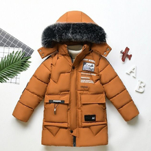 2020 new winter childrens clothing childrens boy cotton padded warm down jacket in the big boy baby long coat coat