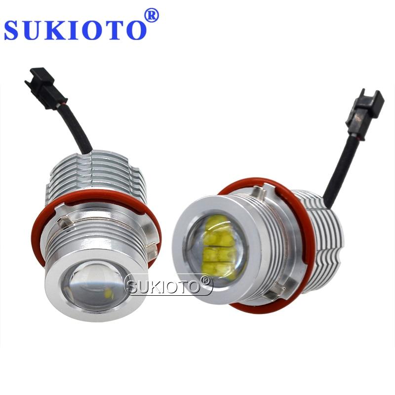 SUKIOTO высокой яркости 280W 160W светодиодный Ангельские глазки набор маркеров белый Canbus светодиодный автомобильный светильник для BMW E39 E60 E63 E53 E83 ...