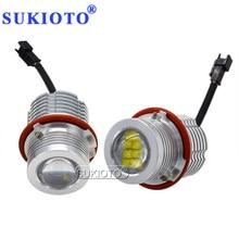 SUKIOTO New High Bright 280W 160W LED Angel Eyes Marker Kit White NO Error Canbus LED Car Light For BMW E39 E60 E63 E53 E83 E87