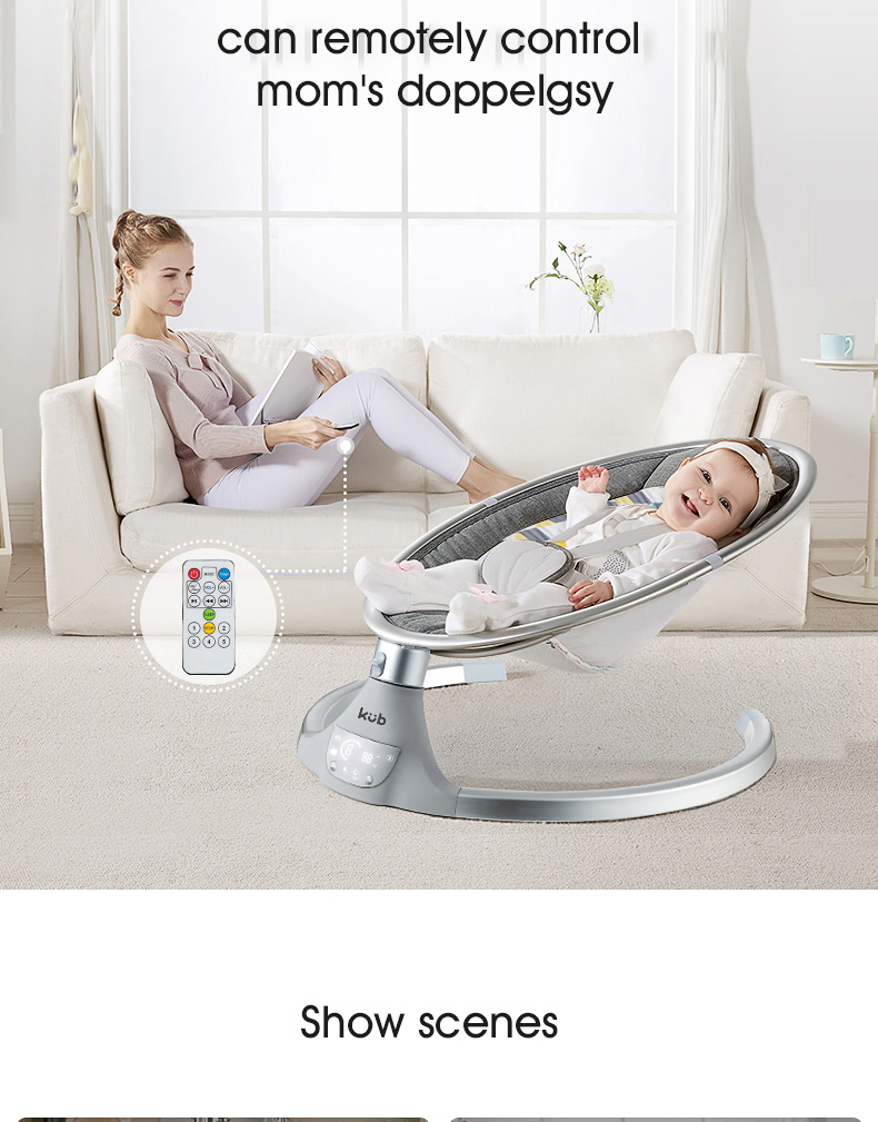 H18cd4896638a47daa41e2beef8892d47A Baby electric rocking chair baby cradle chair artifact sleepy newborn comfort chair shake sound shake shaker
