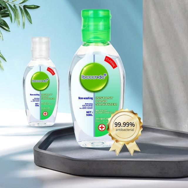 50ml Portable Anti-Bacteria Hand Sanitizer Gel No Clean Hand Gel Waterless Sanitizer Handgel Disposable for Kids Adult White Cap 2