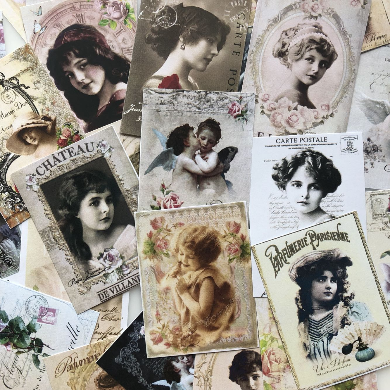 31PCS\SET Vintage European And American Sweet Girl Journal Material Diy Ablum Diary Scrapbooking Label Stickers Flake Stationery