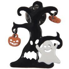 Хэллоуин брошь Тыква черный Spide вечерние украшения Праздничные подарки спектр привидения веб-дизайн ювелирные изделия черный