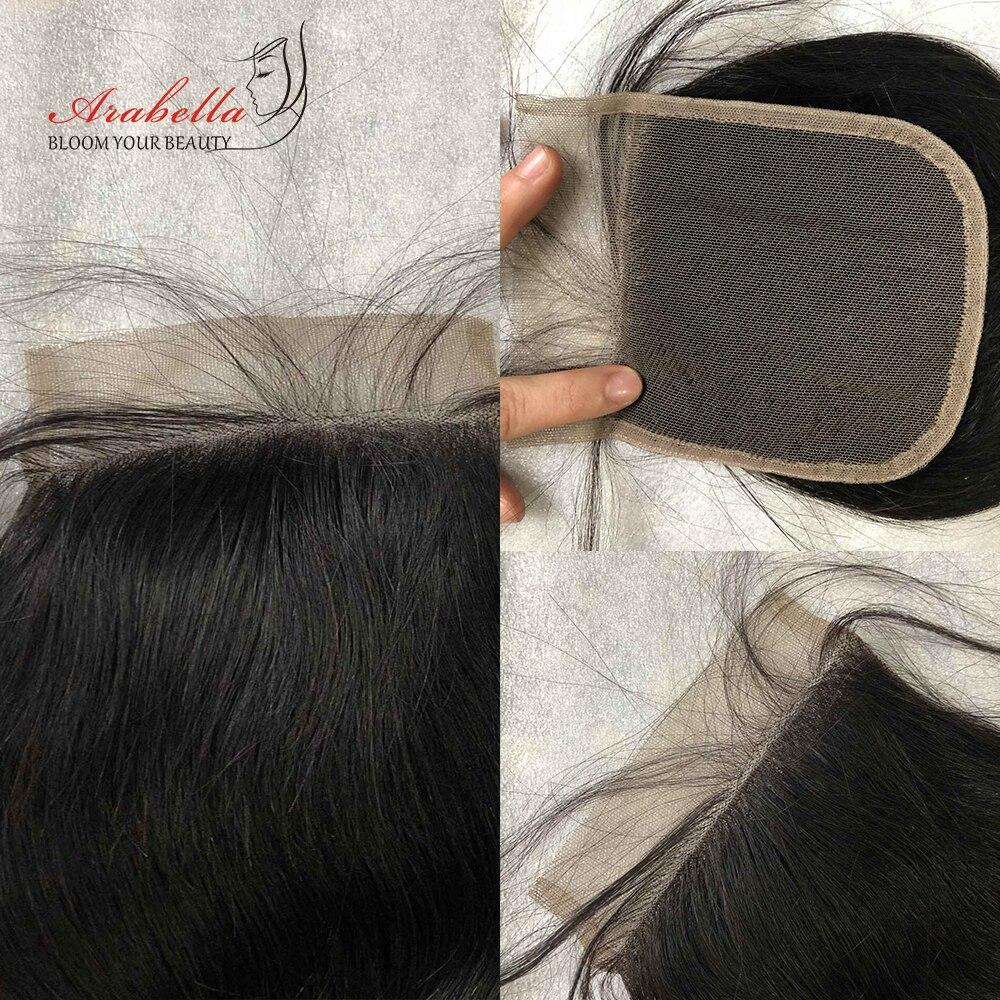 Transparent Lace Closure  Straight 4x4 Closure Straight  Hair 100%  Arabella Pre Plucked Lace Closure 5