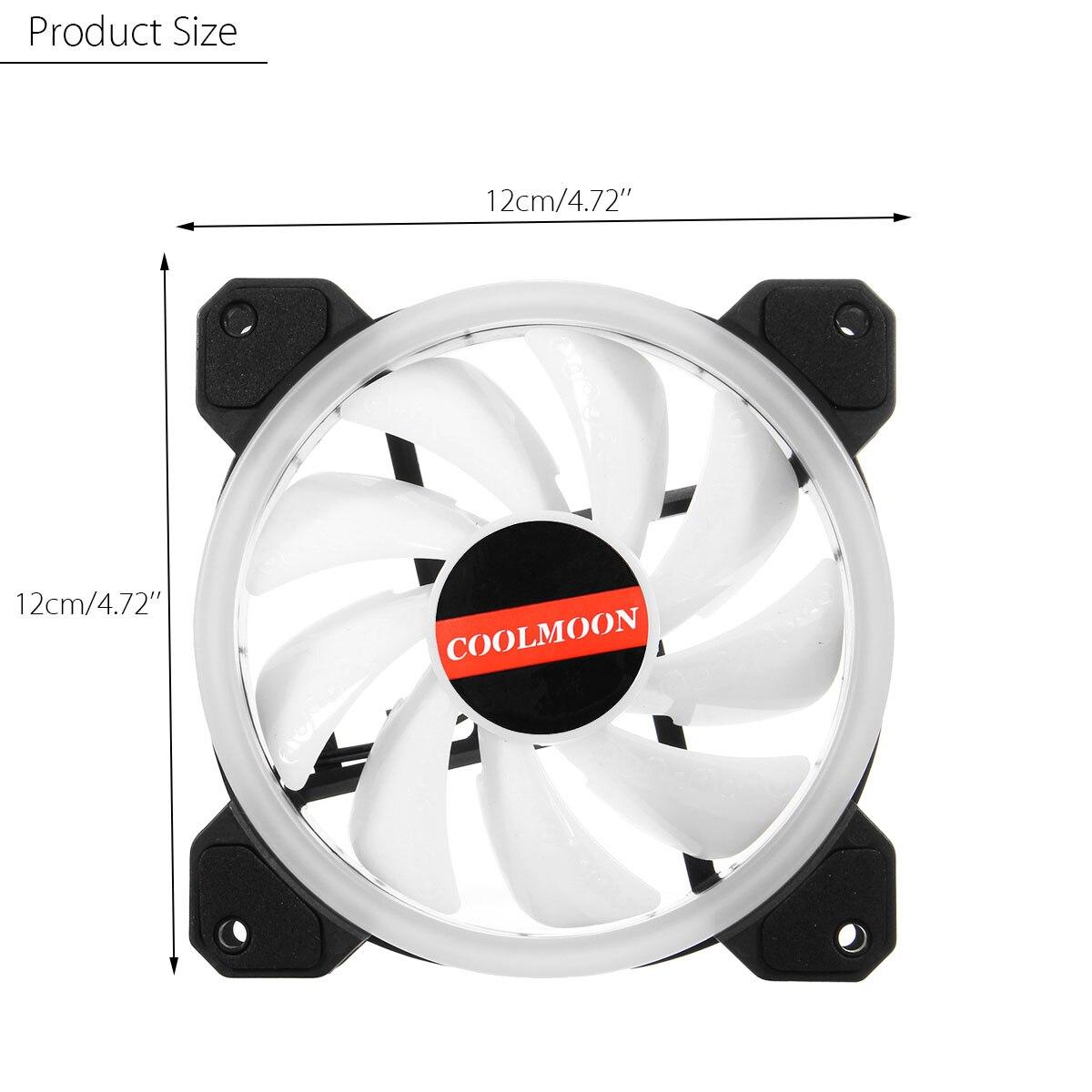 6 pièces coque d'ordinateur PC ventilateur de refroidissement RGB ventilateur de refroidissement ajuster LED 120mm silencieux IR à distance ordinateur refroidisseur refroidissement RGB boîtier ventilateur pour CPU - 6